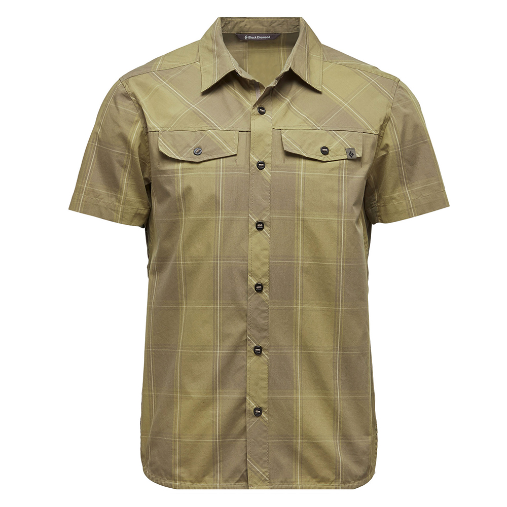 Technician Shirt Burnt Olive / Herb Plaid Black Diamond