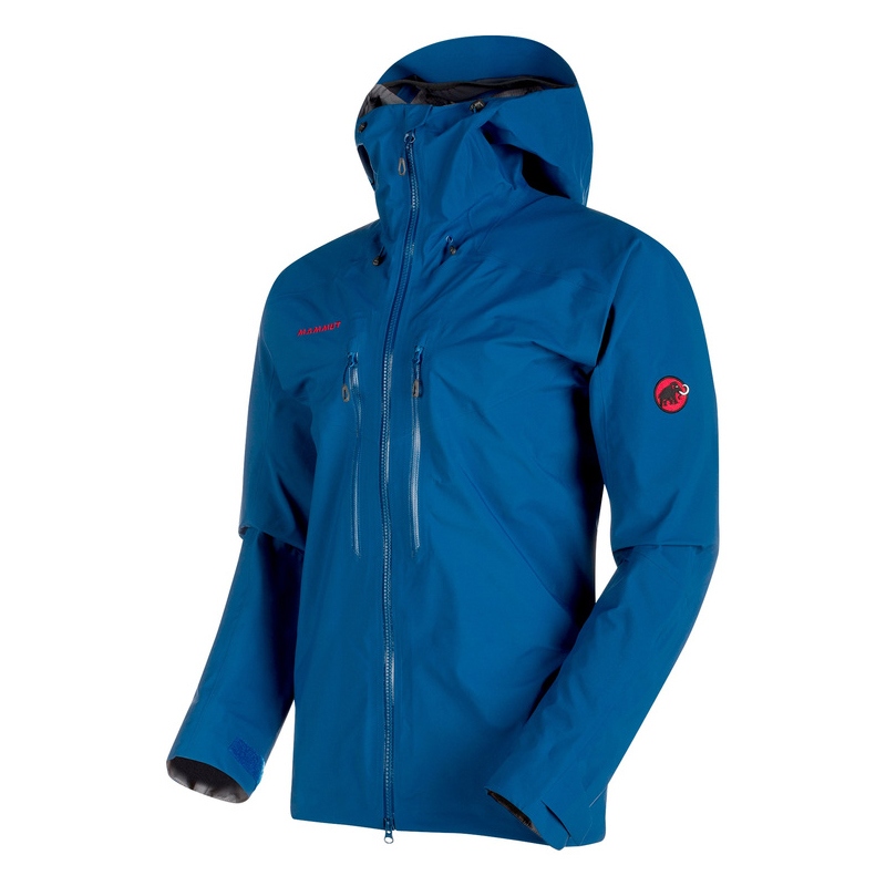 Meron Hardshell Hooded Jacket Men Ultramarine Mammut