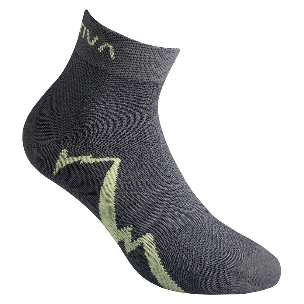 Short Distance Socks Carbon / Apple Green