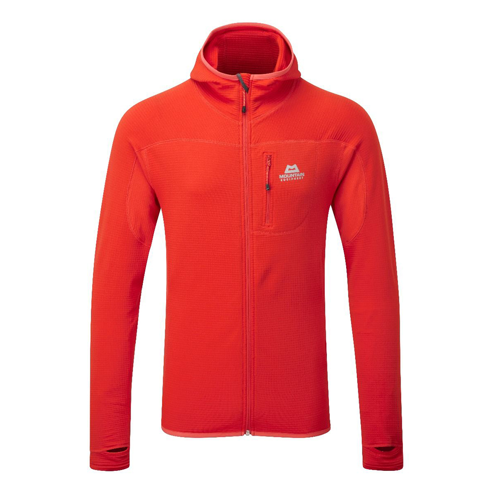 Eclipse Hooded Jacket Cardinal Orange Mountain Equipment