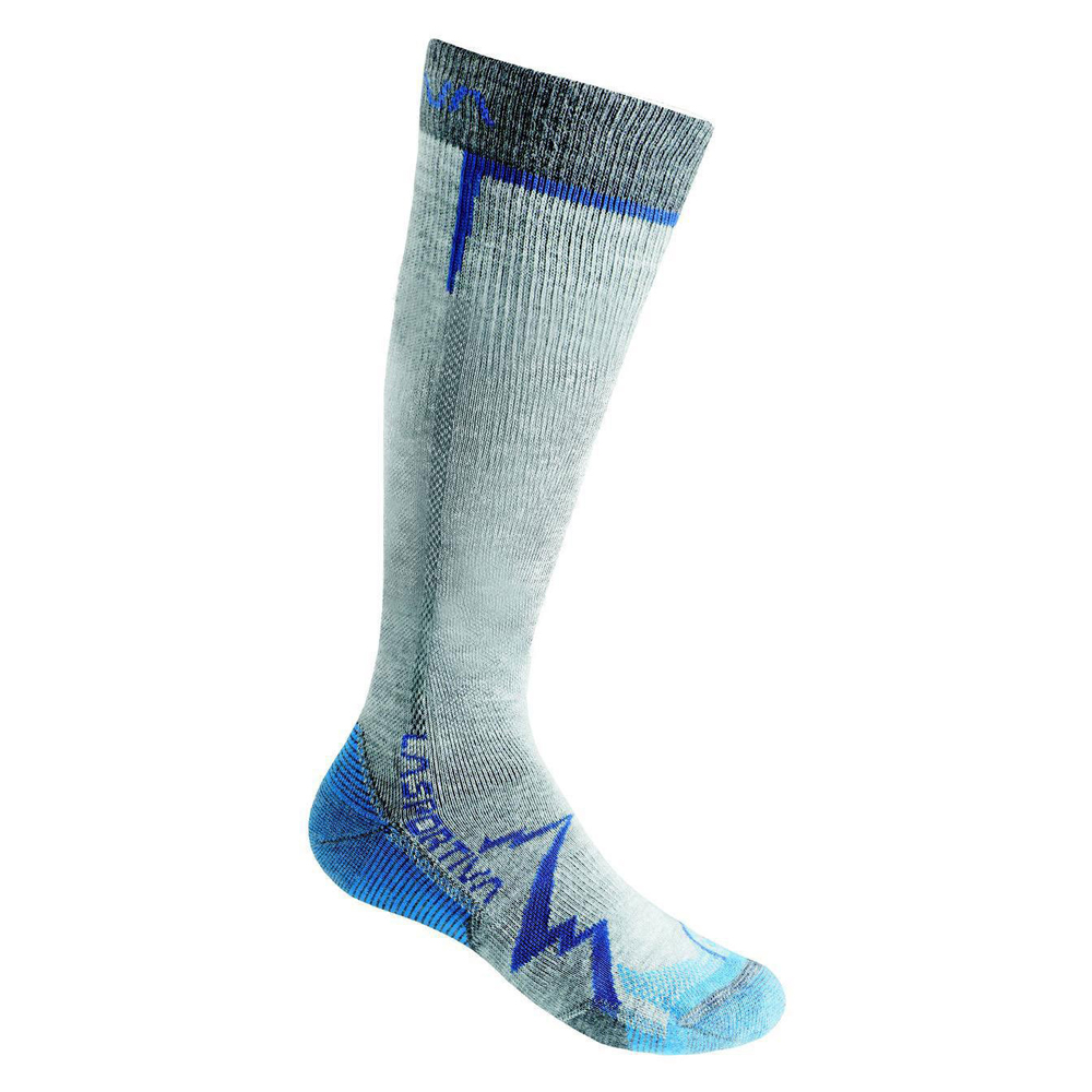 Mountain Long Socks Mid Grey / Blue La Sportiva