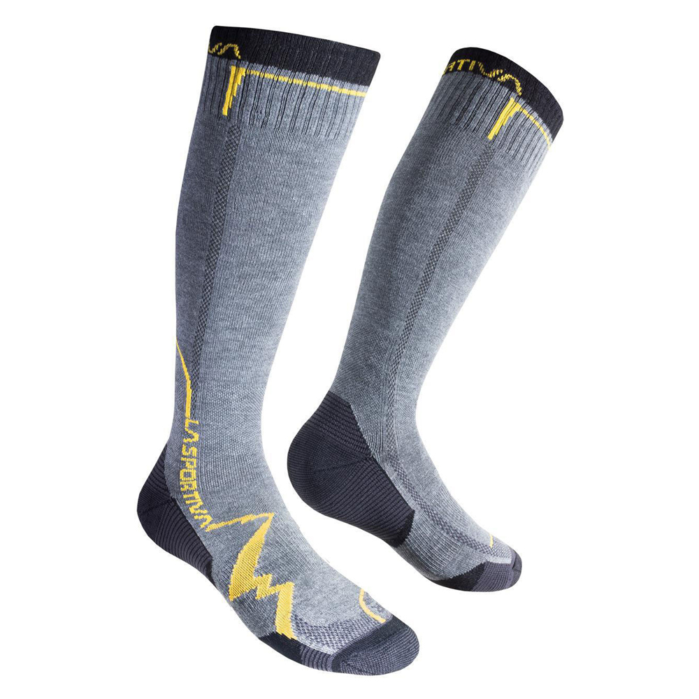 Mountain Long Socks Grey / Yellow