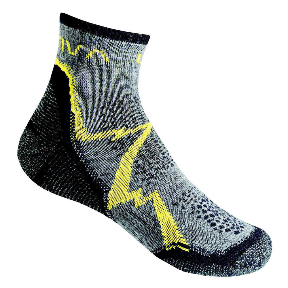 Mountain Hiking Socks Grey / Yellow La Sportiva