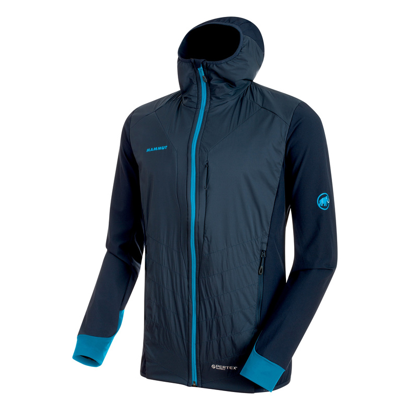 Foraker IN Light Hooded Jacket Men Marine / Imperial Mammut